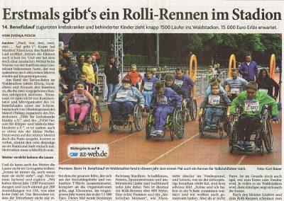 Erstmals gibt's ein Rolli-Rennen im Stadion