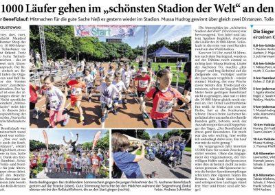 """Über 1000 Läufer gehen im """"schönsten Stadion der Welt"""" an den Start"""